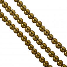 Hematyt kulki złote 10mm