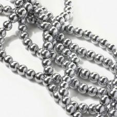 Hematyt kulki srebrne 6mm