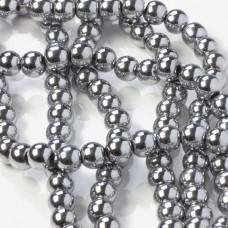 Hematyt kulki srebrne 8mm