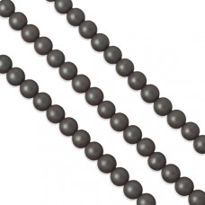 Hematyt matowy kulki grafitowe 8mm