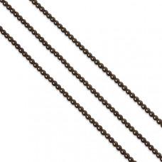 Hematyt kulki platerowane brązowe 3mm