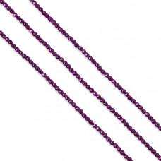 Hematyt kulki platerowane fasetowane fuksja 3mm