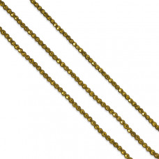 Hematyt kulki platerowane fasetowane złote 3mm