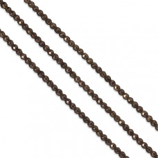 Hematyt kulki platerowane fasetowane brązowe 4mm