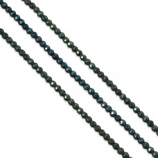 Hematyt kulki platerowane fasetowane emerald 4mm