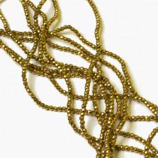 Hematyt kulki fasetowane złote 2mm