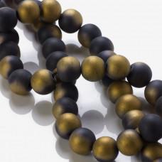 Blackstone matowy kulki platerowane złote 12mm