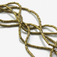 Hematyt walec platerowany stare złoto 4x2mm