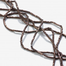Hematyt przekładka wielokąt platerowana brązowa 2x1mm