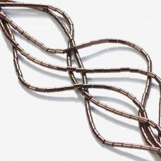 Hematyt platerowany walec brązowy 4x2mm