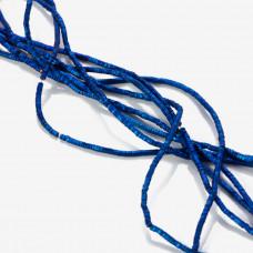 Hematyt matowy przekładka wielokąt platerowana niebieska 2x1mm