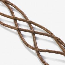 Hematyt platerowany krążek płaski matowy brązowy 3x1mm