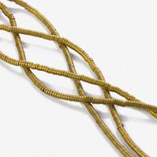 Hematyt platerowany krążek płaski matowy złoty 3x1mm