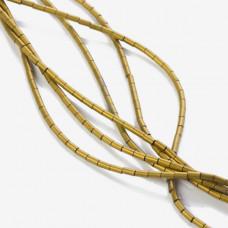 Hematyt platerowany walec matowy złoty 4x2mm