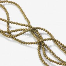 Hematyt platerowany kulka fasetowana matowa złota 3mm