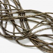 Hematyt walec platerowany brązowy 4x2mm