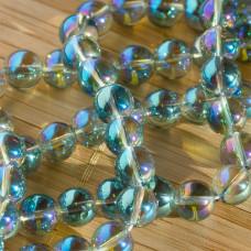 Kryształ górski kulka gładka zielona 10mm