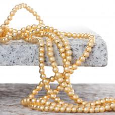 Hematyt platerowany kulka gładka satynowa light gold 4mm