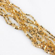 Hematyt koniczynka light gold 4mm