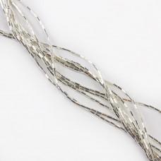 Hematyt słupek sześciokątny light silver 4,2x2mm