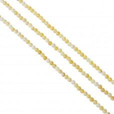 Agat żółty kulka kwasowana 6mm
