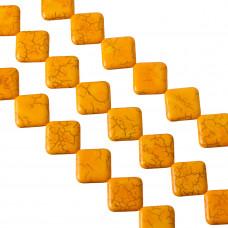 Howlit pomarańczowy kwadrat 20mm