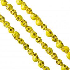 Howlit czaszka 12mm żółta