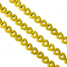 Howlit serce żółte 15mm