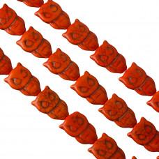 Howlit sowa pomarańczowa 30x20mm