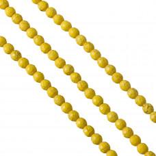 Howlit kulka fasetowana żółta 8mm