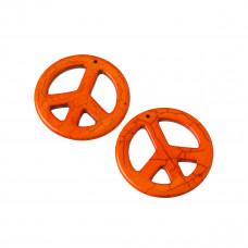 Howlit pacyfka zawieszka  pomarańczowa 45mm