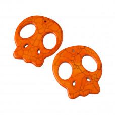 Howlit czacha zawieszka pomarańczowa 55x48mm