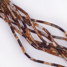 Agat brązowy walec 13x4mm