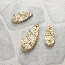 Kwarc dropy platerowane zestaw złoty