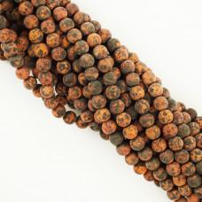 Agat matowy kulka gładka 8mm