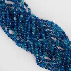 Agat kulka fasetowana niebieski 3,9-4,2mm