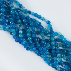 Agat kulka fasetowana niebieski 5,8-6,2mm