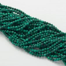 Malachit naturalny kulka fasetowana zielona 4mm