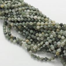 Agat mszysty bryłka diamentowa zielona 6mm