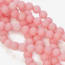Jadeit matowy kulka gładka różowy 10mm