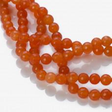 Jadeit kulka fasetowana pomarańczowa 8mm