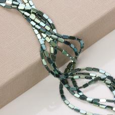 Hematyt platerowany prostokąt zaokrąglony emerald 8x4mm