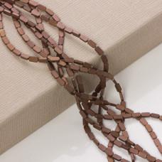 Hematyt platerowany prostokąt zaokrąglony brązowy mat 8x4mm