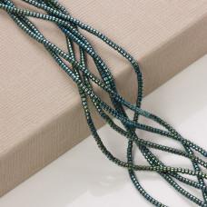 Hematyt platerowany walec emerald 3x2mm