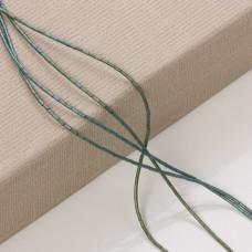 Hematyt platerowany słupek emerald mat 3x1mm