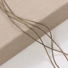 Hematyt platerowany słupek  oliwkowy mat 3x1mm