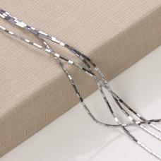 Hematyt platerowany słupek kwadratowy srebrny 3x1mm