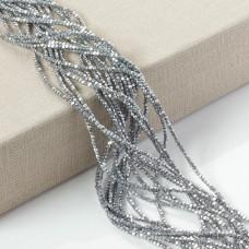 Hematyt wielokąt platerowany srebrny 2mm