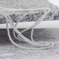 Hematyt kulki platerowane gładkie white silver 2mm