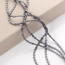 Hematyt krzyż matowy srebrny 6x4mm